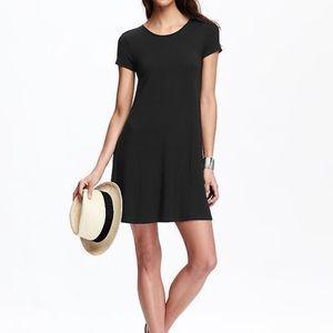Old Navy Black Short Sleeve Swing Dress Size M